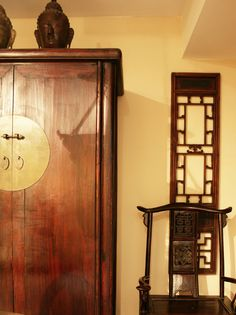 chinese cabinet and chair
