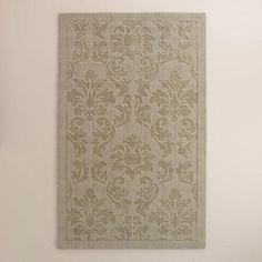 One of my favorite discoveries at WorldMarket.com: Gray Floral Carved Wool Adele Area Rug. #Ad #WorldMarketTribe
