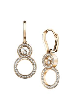 Happy 8 Earrings, expressing the magic of #diamonds