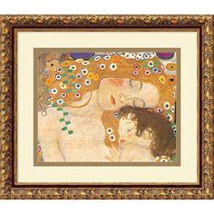 <li>Artist: Gustav Klimt</li> <li>Title: Three Ages of Woman - Mother and Child (Detail IV), 1905</li><li>Product type: Framed print</li>
