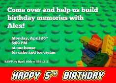 They love Lego's and they want a Lego party.