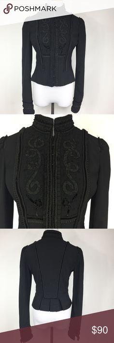 ELIE TAHARI VICTORIAN STEAMPUNK STYLE BLAZER Velvet appliqués on it. GUC Elie Tahari Jackets & Coats Blazers