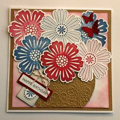 a birthday card -  Stampin' Up! Mixed Bunch stamp set