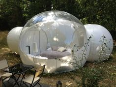 Fancy spending a night in a bubble? An eco-friendly bubble of course! It is 100 % recyclable and features solar panels to be completely self-sufficient. Discover more about the French bubble tents on their website.