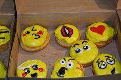 Emoji Donuts prepared by Hurt's Donuts