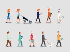 Retirement walk by Martin Kundby #Design Popular #Dribbble #shots