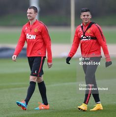 Jonny Evans and Marcos Rojo