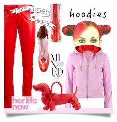 """""""In My Hood: Cozy Hoodies"""" by kari-c ❤ liked on Polyvore featuring Givenchy, Loewe, Kalda, Thom Browne and Hoodies"""