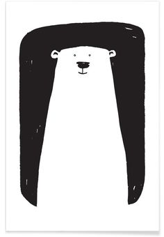 Bear as Premium Poster by Richard Hood | JUNIQE