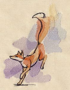Painted Fox | Urban Threads: Unique and Awesome Embroidery Designs