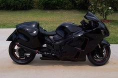 Black on Black Suzuki Hayabusa   .. #pashnit ... http://www.pashnit.com/product/index_hayabusa.html