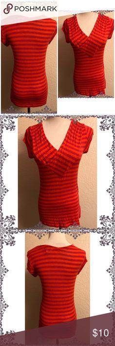 I just added this listing on Poshmark: Cabi tee striped orange blouse top small. #shopmycloset #poshmark #fashion #shopping #style #forsale #CAbi #Tops