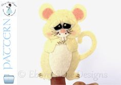 Hickory Dicory Dock. The mouse ran up the clock.  Use our mouse finger puppet pattern to create your own adorable keepsake finger puppet.