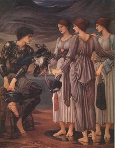 Edward Burne-Jones: The Arming of Perseus, Oil on canvas, 1885.