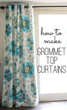 grommet top curtains tutorial (a step by step free guide)