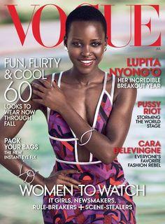 Lupita Nyong'o fait la couverture du Vogue US du mois de juillet 2014.