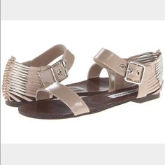 Steve Madden - Sincere Sandals Brand New, Never Been Worn, Blush Patent Upper and Man-Made Outsole Steve Madden Shoes Sandals