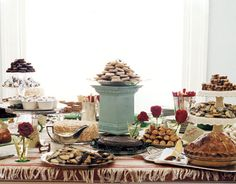 doing a dessert bar since I don't really like wedding cake. Yeah cheescakes!!! And chocolate covered strawberries and more and more and more. Fun fun.