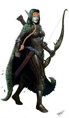 Elf Ranger by malverro.deviantart.com on @DeviantArt