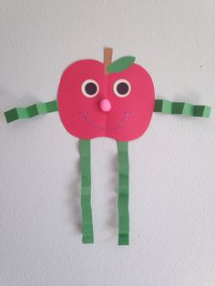 Apple Girl Craft - Kindergarten Craft - Apple Craft - Kids Craft - Fall Craft