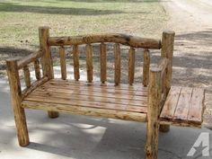 New 3 1/2' FT Log bench/w Side Table - for Sale in Spirit Lake, Idaho Classified | AmericanListed.com