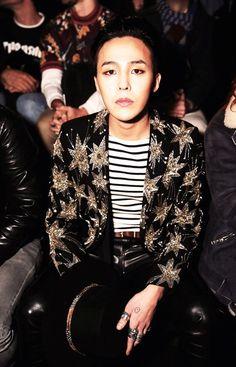 G-Dragon Sits Front Row at His Favorite Designer Saint Laurent's Show in Paris
