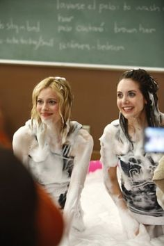 hahaha the story behind this picture #community #alisonbrie #gillianjacobs