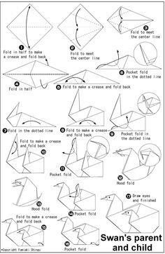 How To Make Paper Moving Swans