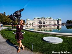 2016, осень, день рождения, Вена, Австрия, парк, дворец, Бельведере, пруд, 2016 autumn, birthday, Vienna, Austria, the park, the palace, Belvedere, pond