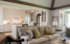 White Open Kitchen - Potomac Valley Builders | Tudor Renovation