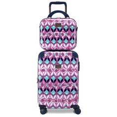 Honestly, is there not enough bright colors in the world? With a colorful pattern, stand-out anywhere with Bright Bohemian 2-piece set! Available in a bright pink with teal accents, or a deep blue with cool undertones. Polycarbonate/ABS shell with silky soft 210D lining, nothing short of the best for all your travel needs. Travel in style with Chariot Travelware! Bright Pink, Bright Colors, Teal Accents, Hardside Luggage, Cool Undertones, Beauty Case, Deep Blue, Travel Style, Color Patterns
