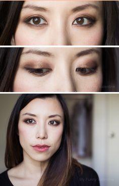 Charlotte Tilbury The Dolce Vita Eyeshadow Palette on Asian eyes.
