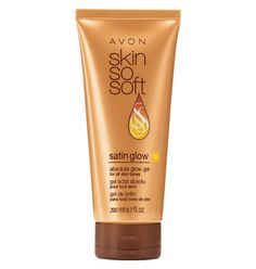 AVON  Skin So Soft Glow Gel, Adds a touch of color, moisturizes, reduces hair and tightens!!! Use it every day :)