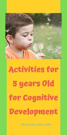 5 Stimulating Activities for 5 years Old - Activites can also stimulate your childs cognitive skills. Activities For 5 Year Olds, Hands On Activities, Infant Activities, Learning Activities, Childcare Activities, Teaching Ideas, Cognitive Development Activities, Physical Activities, Toddler Development
