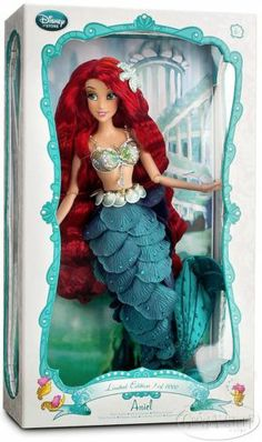 Disney Store Limited Edition Ariel Collectible 17 inch Doll Little Mermaid NEW