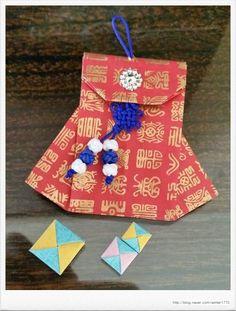 Táskák origami módszer: Naver blog