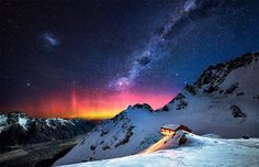Milky way over New Zealand's mountains