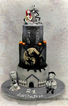 Tim Burton Themed Cake