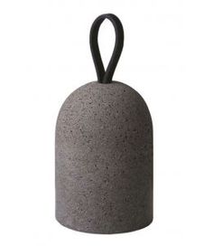 DOORSTOP SOLID HAND TURNED DOORSTOP IN ANATOLIA STONE AND LEATHER HANDLE.