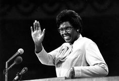 """My presence here is one additional bit of evidence that the American Dream need not be forever deferred."" Rep. Barbara Jordan of Texas at the Democratic National Convention in New York City, New York, United States, 1976, photograph by Associated Press (photographer unattributed). Rep. Jordan was the first African-American and the first woman to deliver the party's keynote address."