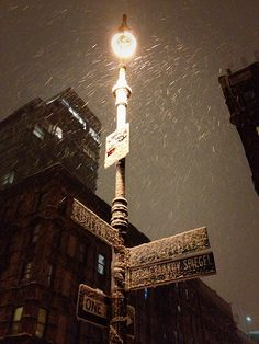 New York City Snow - Street Sign