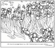 Van Gogh Coloring Pages | Brancusi, Constantin. Bird in Space. Coloring page & lesson plan ideas