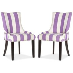 Aneva Set of 2 Dining Chairs, Quick Ship ($432) ❤ liked on Polyvore featuring home, furniture, chairs, dining chairs, chair, lavender, fabric kitchen chairs, pair chairs, twin pack and fabric chairs