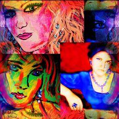 Selfportrait by female artist
