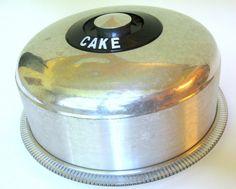 Kromex Mid-Century Cake Saver with Glass Plate