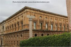 Side & back view of Carlos V Palace Alhambra Grenada Spain
