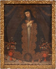 Anónimo cuzqueño, Virgen de la Soledad de La Victoria de Madrid, óleo sobre tela, 104 x 82 cm., ca. 1750, Peyton Wright Gallery, catalogación: Juan Carlos Cancino.