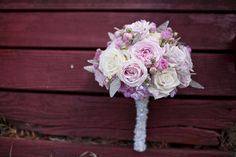 love the overall shape of this bouquet with silver/glittery leaflets sticking out