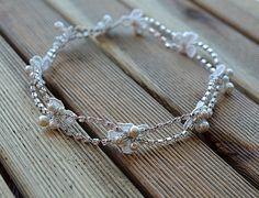 Diadema de perlas y diamantes de imitación venda de la por ADbrdal
