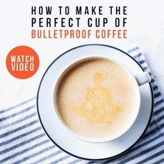 What is Bulletproof Coffee?  Instead of using cream or milk, you use grass-fed butter and coconut oil.  You then blend it into a delicious frothy cup of coffee.I can personally vouch for this method of making coffee, because after years of drinking coffee and cream, this switch gave me energy and helped me lose weight.  Check out the website and the video of how to make it.